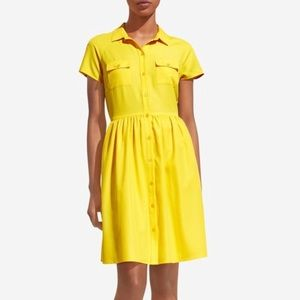 NWT The Limited shirt dress in yellow